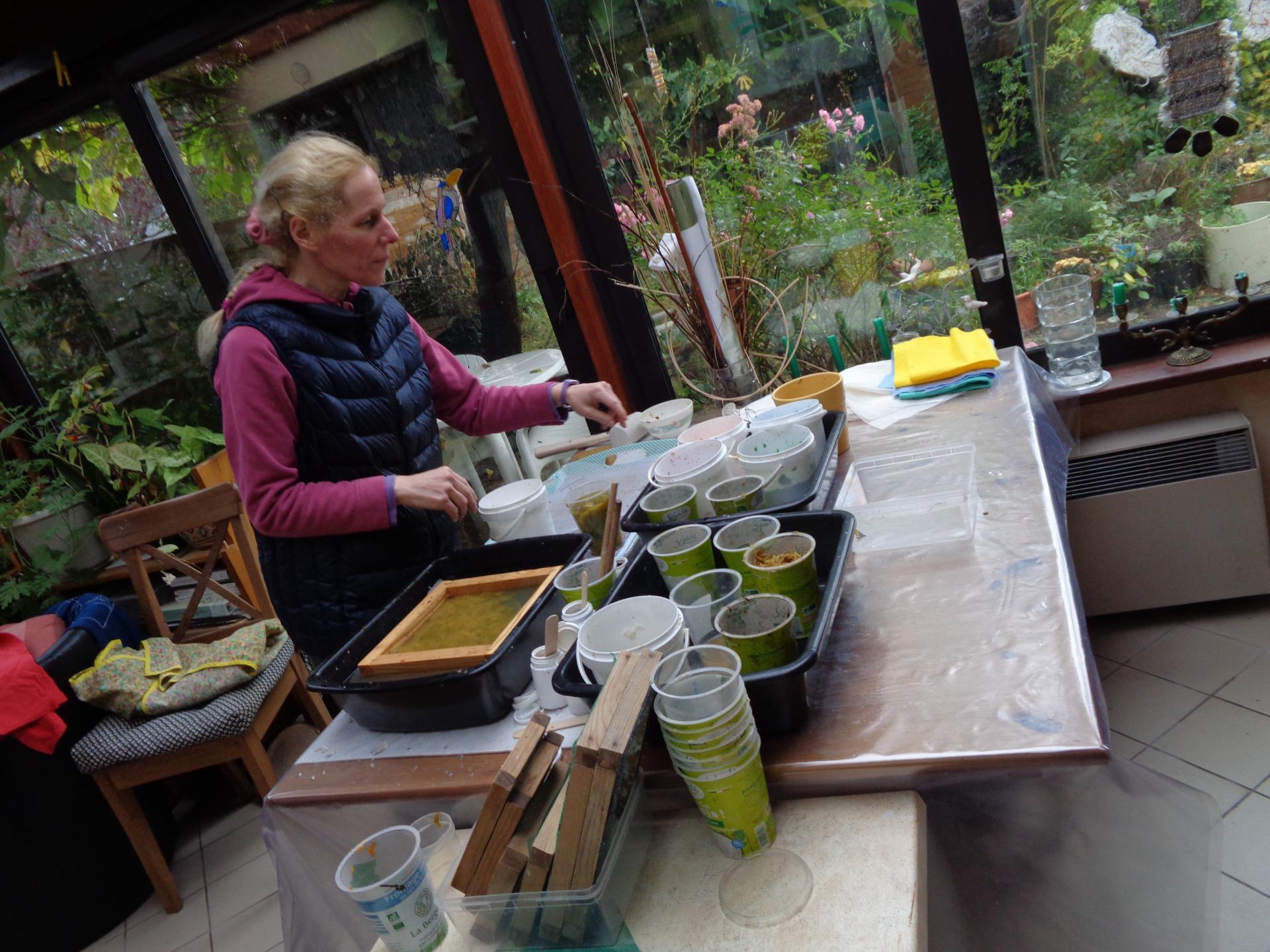 Fabrication du papier chiffon chez Martine Gautier ( 2 )