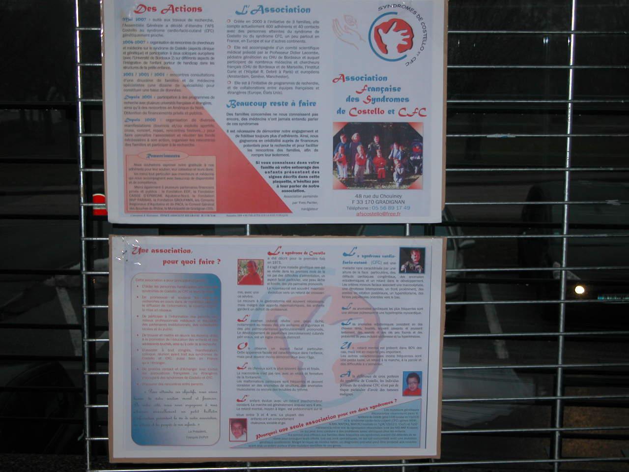Sensibilisation sur le Syndrome de Costello, aider à la recherche
