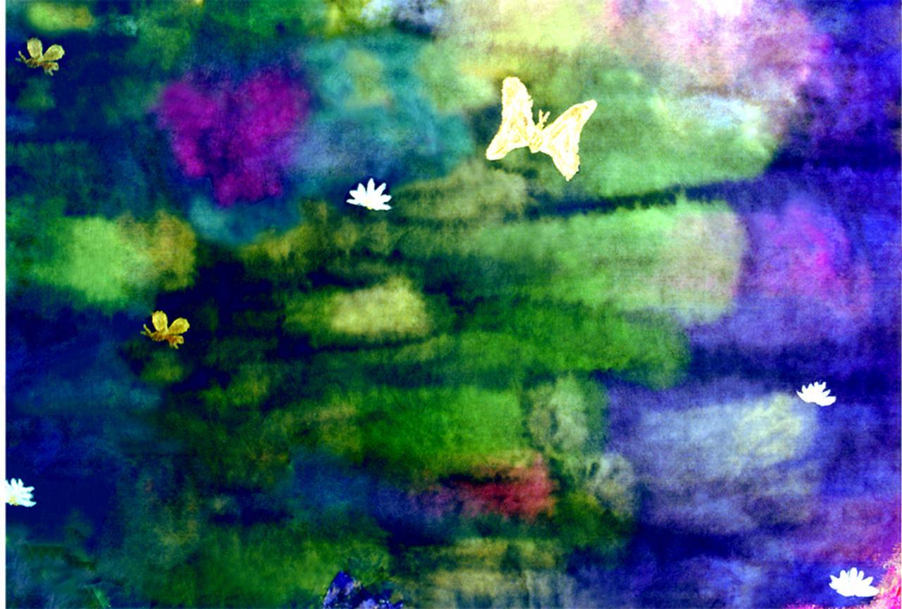 Paysage de couleurs (5) - Encre sur papier japon