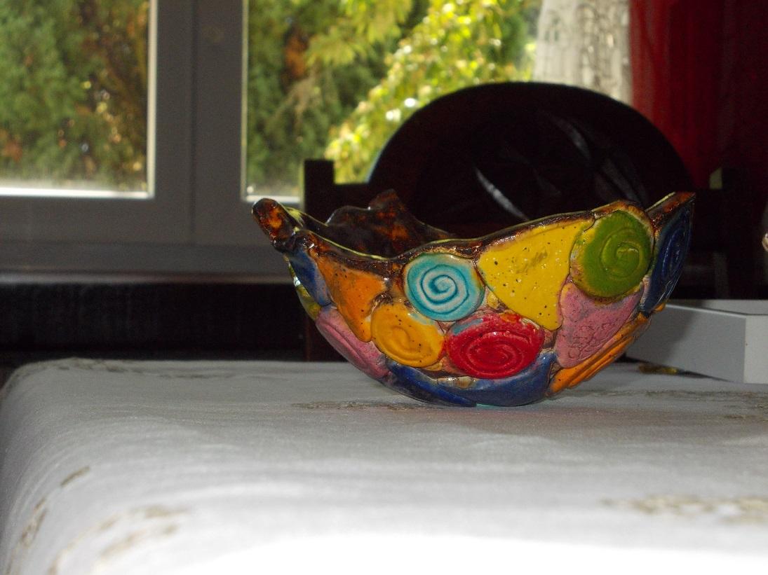 Petit Vase ambré aux Chats (2)