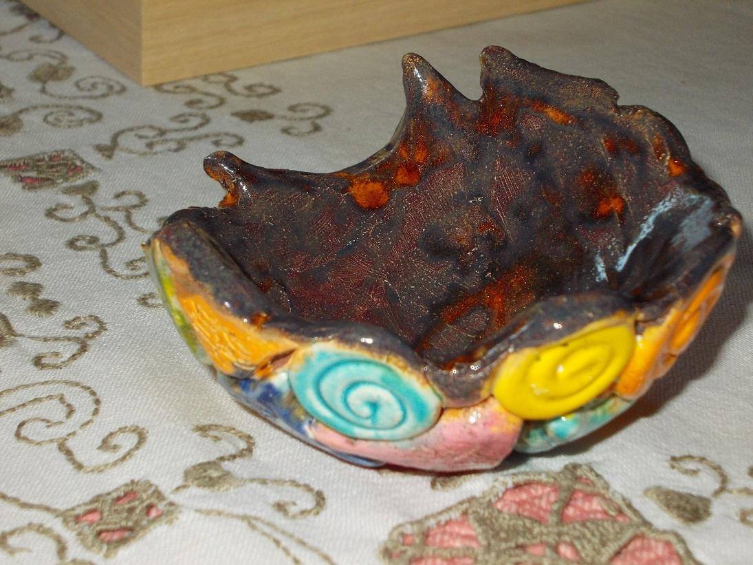 Coupelle ambrée aux Chats (1)