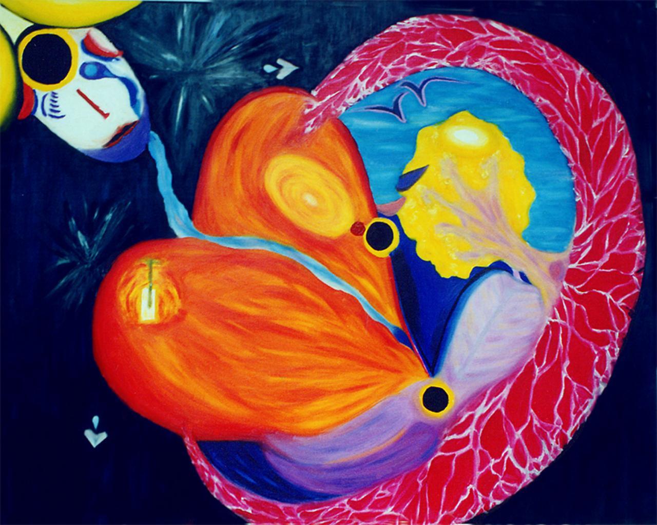 Acrylique - Naissance   ( 63,5 x 82 cm )