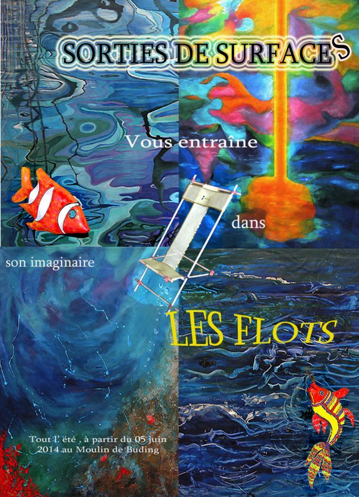 """Affiche Expo SDS """" LES FLOTS """""""