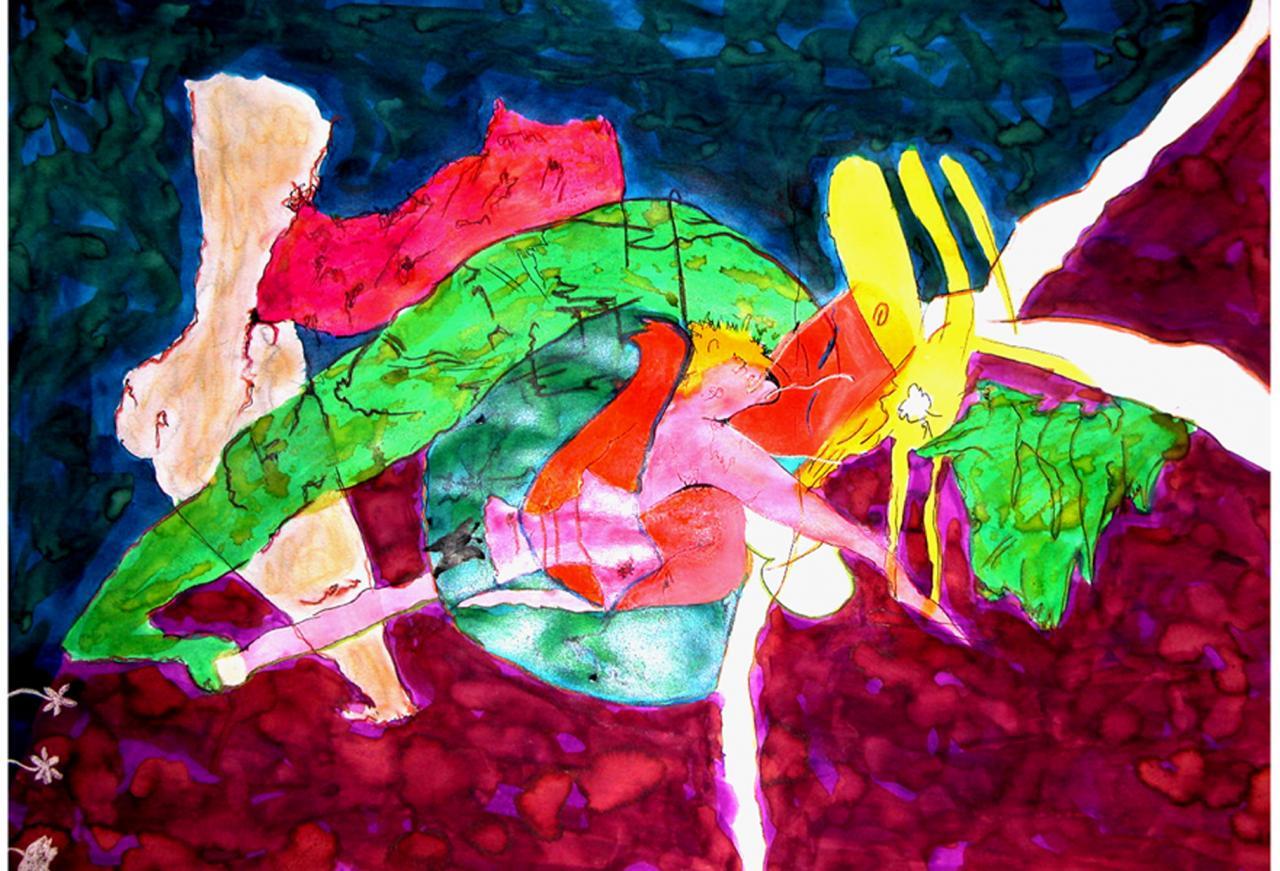 Dessin à l' Aqurelle et aux Encres   ( 50 x 70 cm )