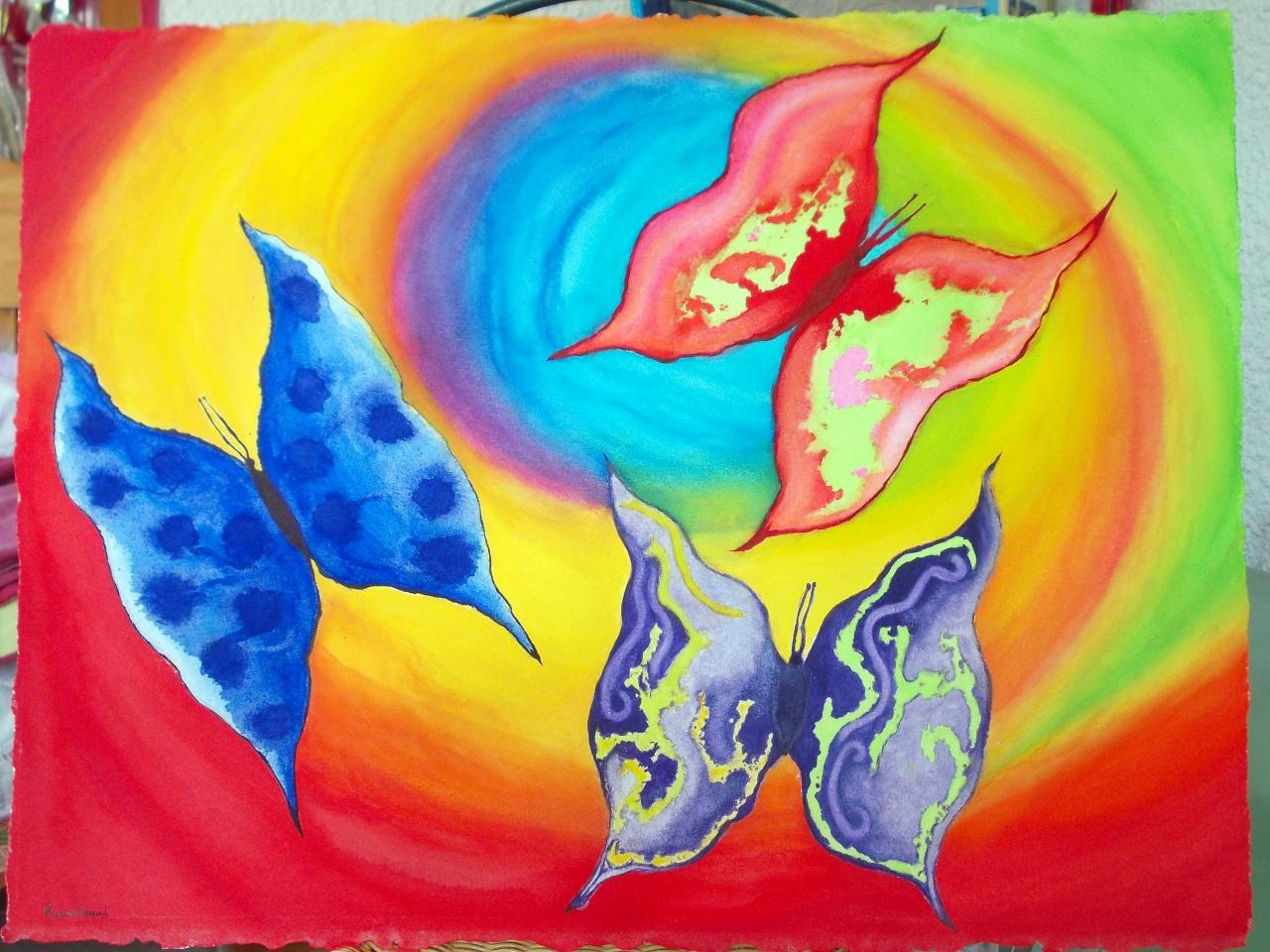 Aquarelle - Papillons 2   ( 90 x 1,20 m )