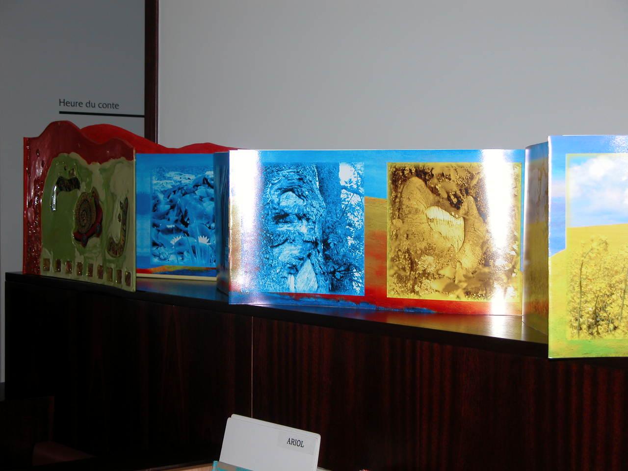 Livre Géant de 13 mètres 5 ( installation in Situ médiathèque )