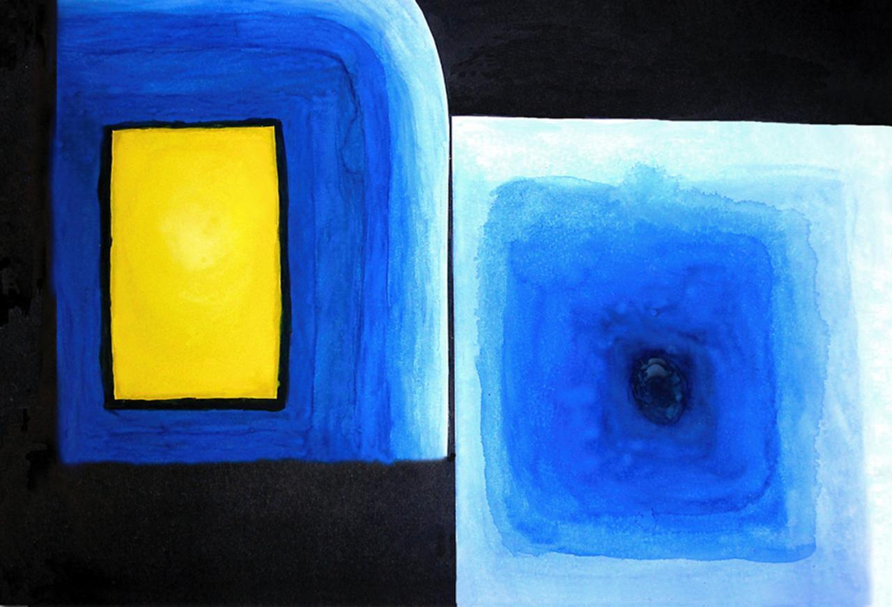 Aquarelle - Abstrait   ( 23,5 x 30 cm )