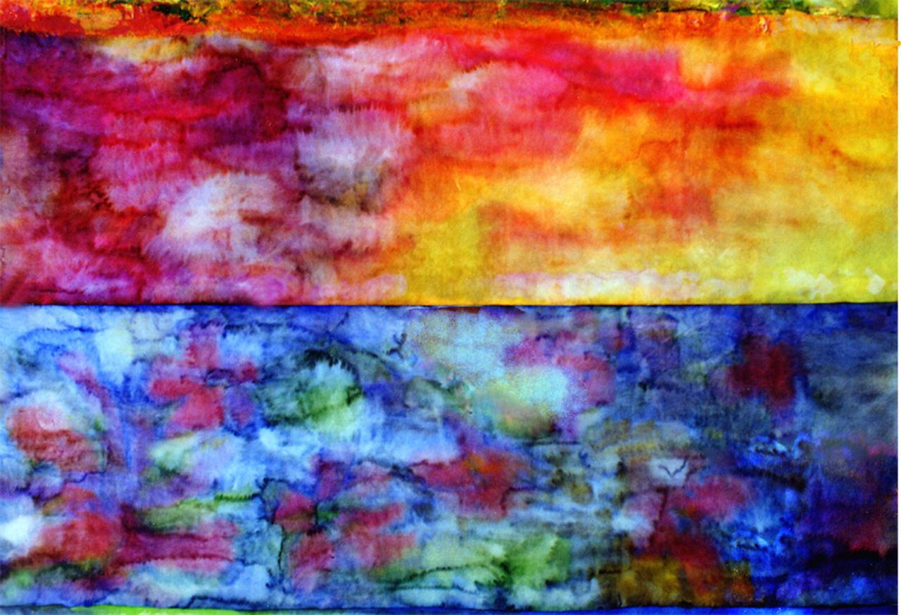 Paysage de couleurs (1)- Encre sur papier japon