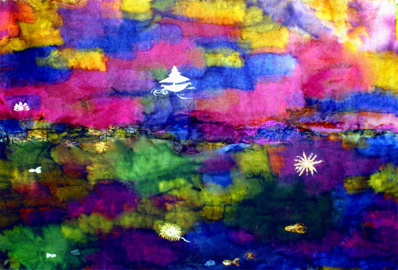 Paysage de couleurs (3) - Encre sur papier japon