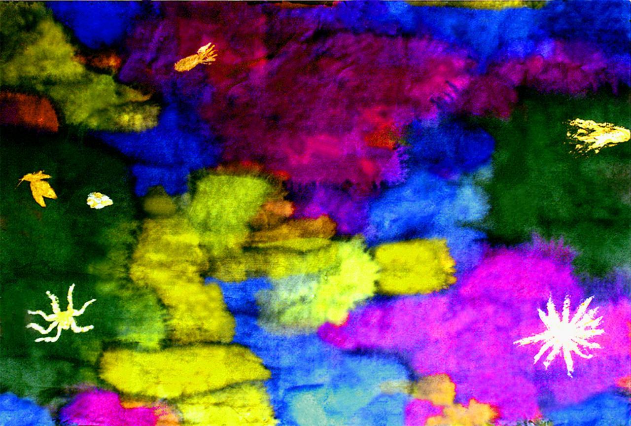 paysage de couleurs (4) - Encre sur papier japon