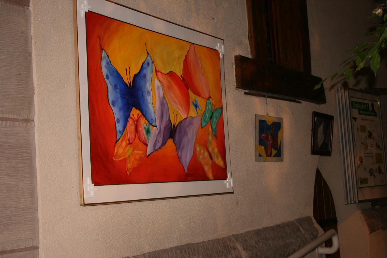 """Exposition à la Verrière de Saint Avold  """"les Papillons"""""""