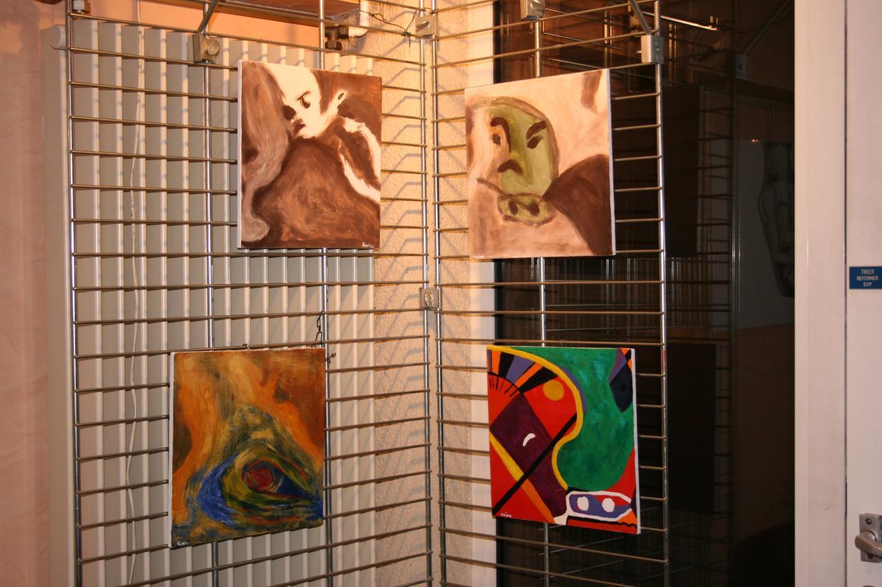 """Exposition à la Verrière de Saint Avold  """" Tempéra et Acrylique """""""