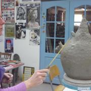 Stage de poterie à l' atelier des 3 bouleaux , automne 2016