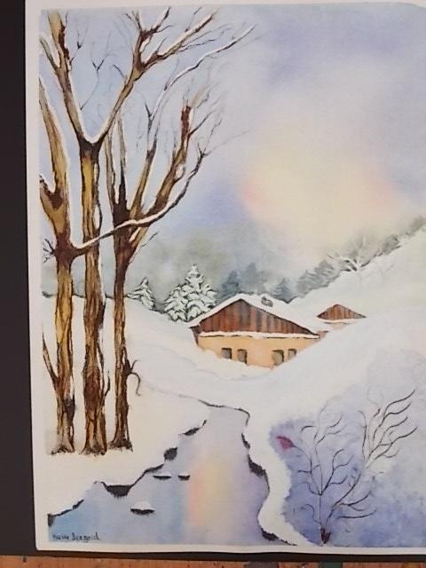 Paysage - Maison jurassienne sous la neige