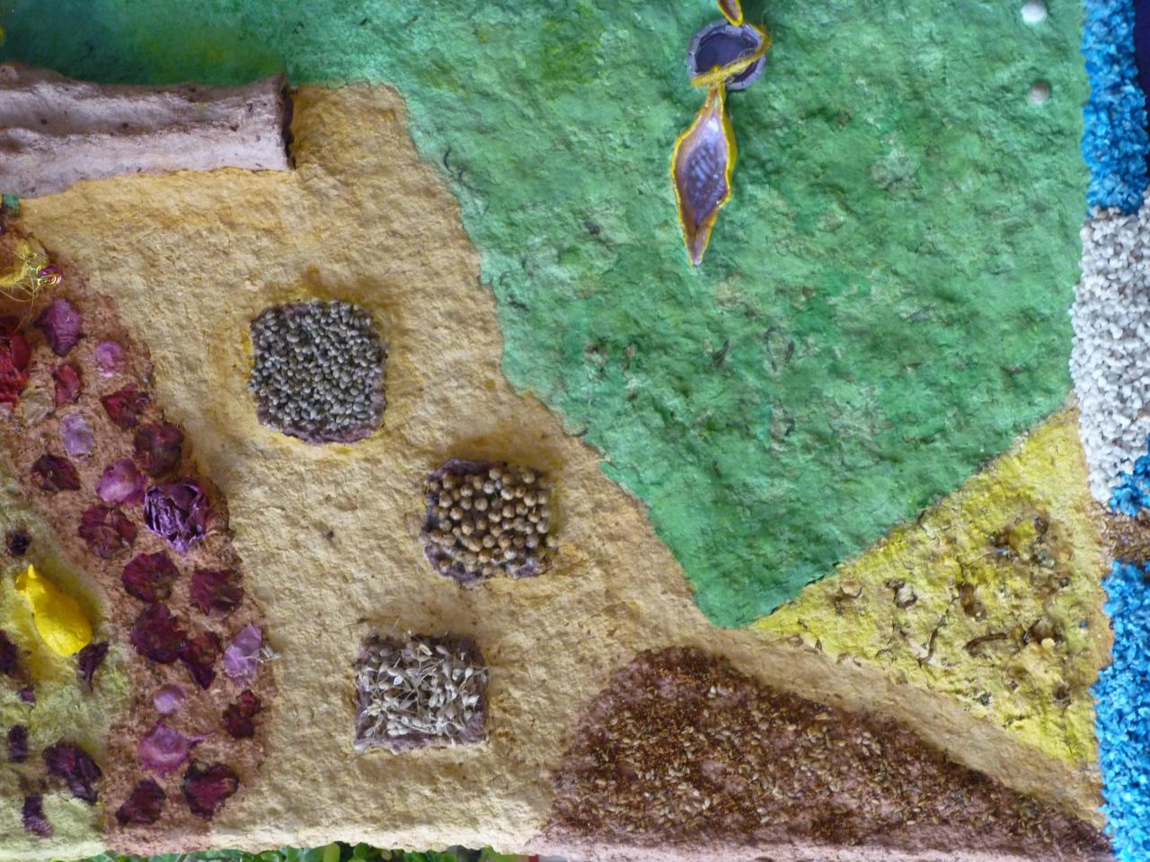 Jardin de culture (bacs de graines, papier de lin et brins de mousse)