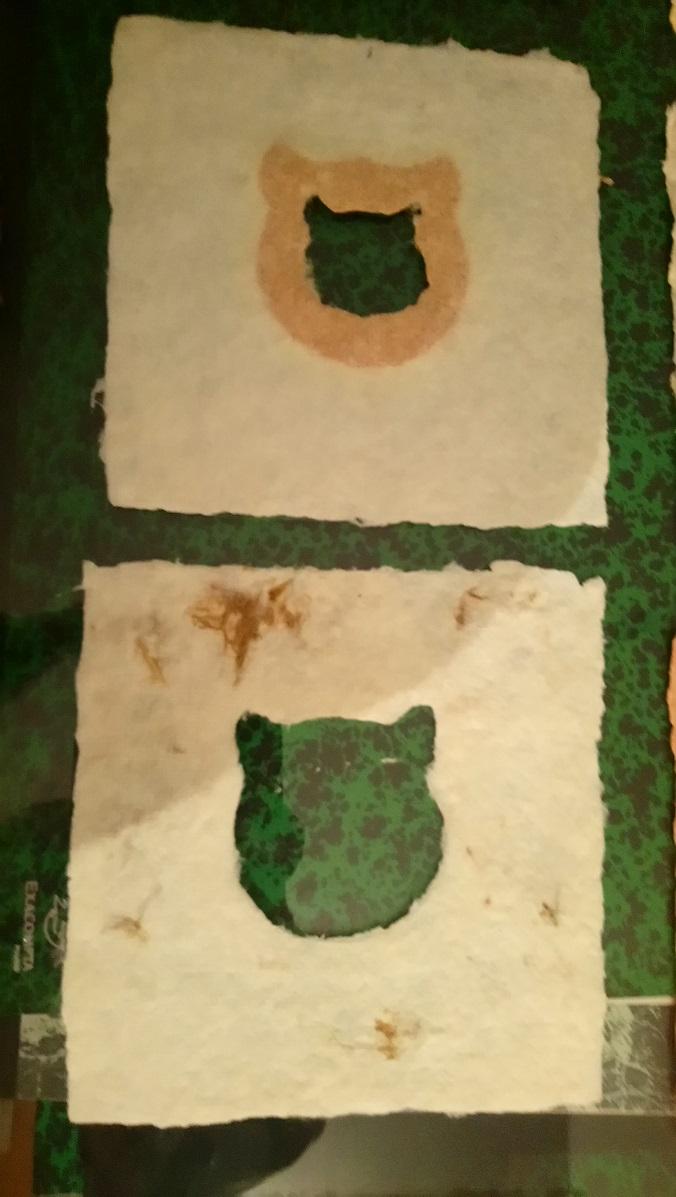 Papiers de Lin et Chanvre et formes de chats