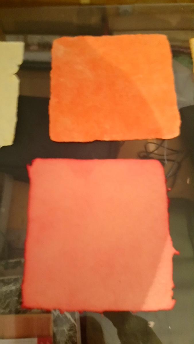 Papiers de Lin  et Chanvre Roses et Orangés
