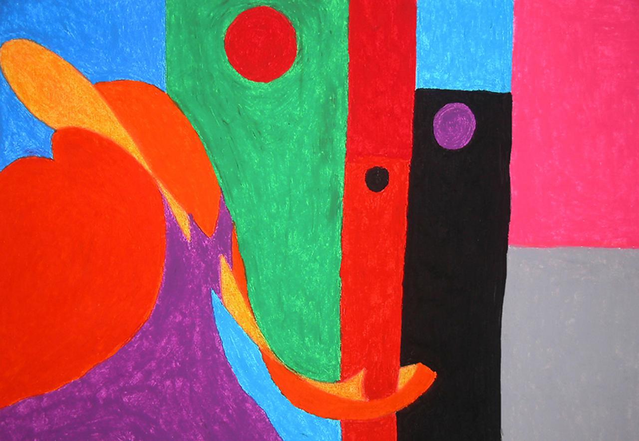 Pastel - Sourire Abstrait   ( 50x 70 cm )