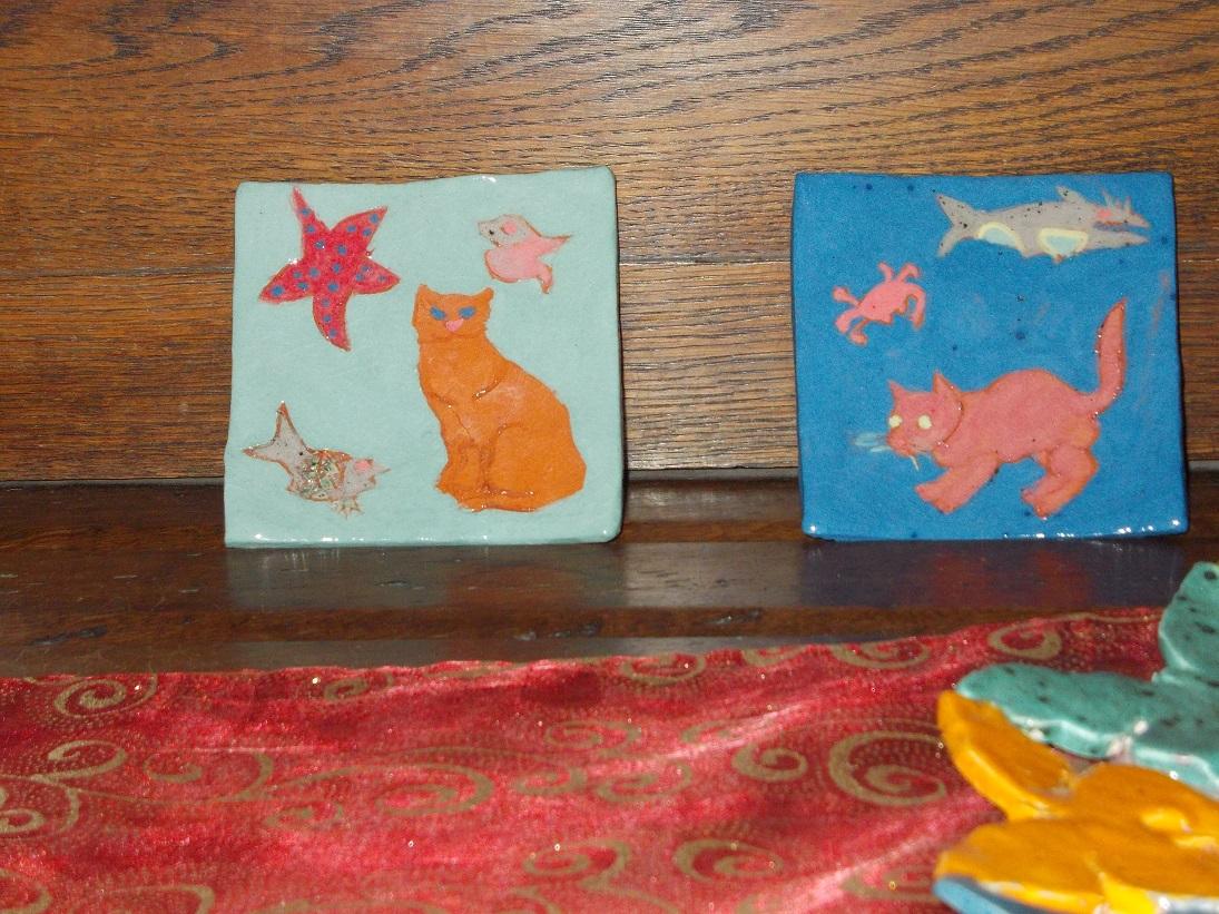2 petites assiettes vide-poche aux chats (1)
