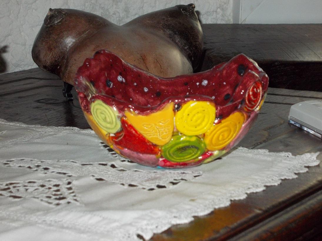 Petit Vase rose aux Chats (1)