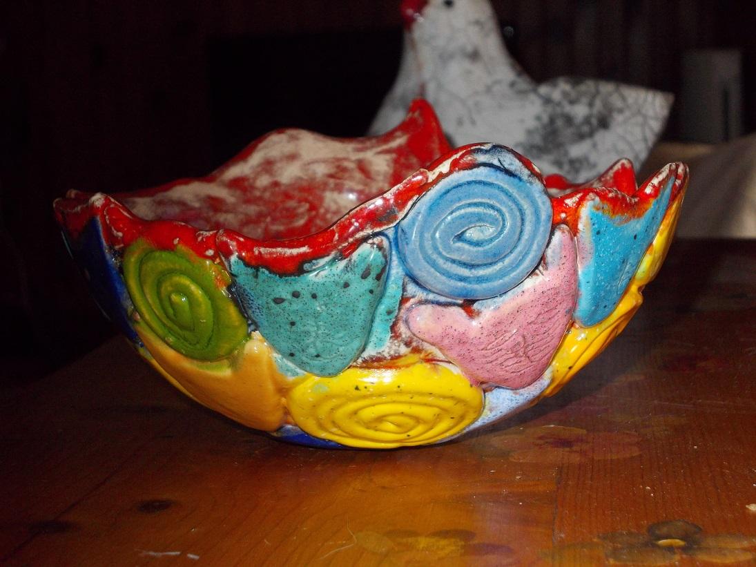 Petit Vase rouge aux Chats
